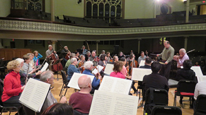view from rear of orchestra